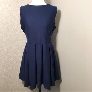 Topshop sleeveless pleated skates dress.